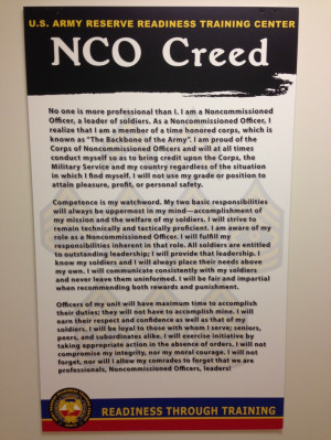 NCO Creed | Army Study Guide