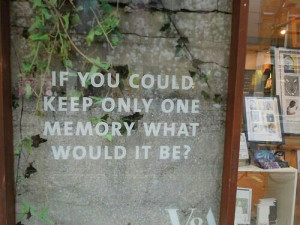 If you could keep only one memory