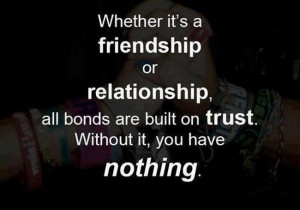 Whether it's a friendship or relationship, all bonds are built on ...