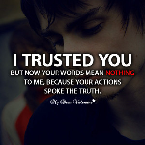 love hurts quotes i trusted you but