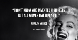Marilyn Monroe Quotes About Women