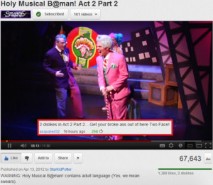 funny YouTube video starkid musical Two Face holy HOLY MUSICAL BATMAN ...