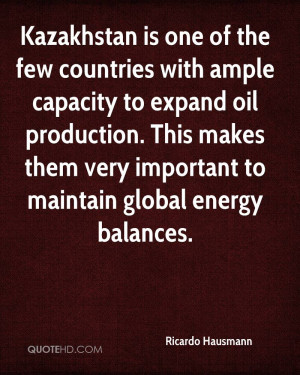 Kazakhstan is one of the few countries with ample capacity to expand ...