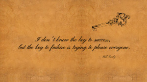 don't know the key to success... quote wallpaper