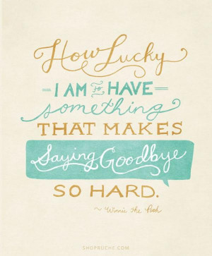 ... Am To Have Something That Makes Saying Goodbye So Hard ~ Goodbye Quote