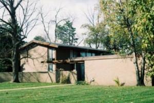 ... Strathcona two-story brick house was designed by Minoru Yamasaki, 1952