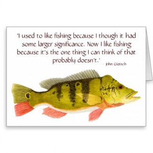 Bass Fishing Quotes Peacock bass card with quote