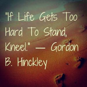 Kneel   Creative LDS Quotes