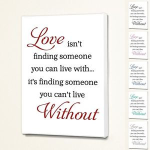 Love-isnt-finding-Wall-Quote-Sign-Saying-Box-Canvas-Fabric-6-Font ...