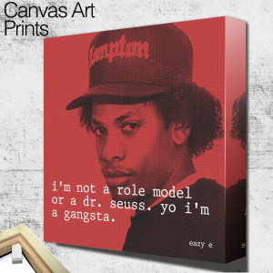 eazy e quote square wall art