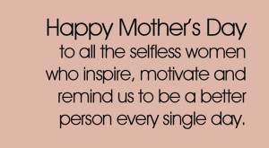 inspirational quotes about mothers day