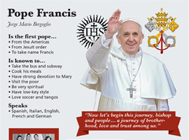 Pope Francis Biography Graphic by CNS. Click on the image to see the ...