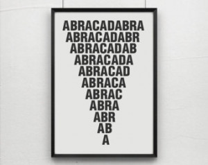 Abracadabra, magic quotes,magic typ ography, art prints, postes ...