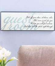 guest room cricut quote