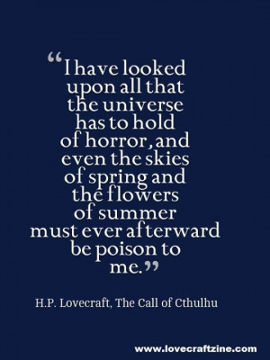 Quote from H.P. Lovecraft