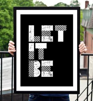 Typography Print Poster Art