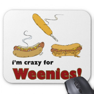 Crazy For Weenies Corn Chili Hot Dog Mouse Pad