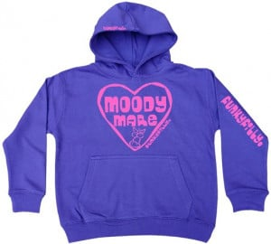 Funky Filly Pony Girls 'Moody Mare Pink Horse Heart' Jumper Hoodie ...