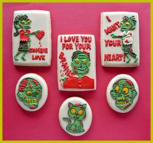 Valentine Cookies, Valentine 2014, Geeky Valentine, Zombies Valentine ...