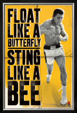 ali float like a butterfly Muhammad Ali Quotes Float Like A Butterfly ...