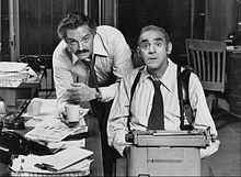 Hal Linden as Captain Barney Miller and Abe Vigoda as Detective Philip ...