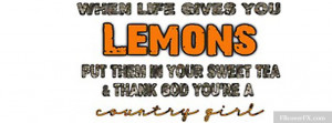 Country Girl Sayings 6 Facebook Cover