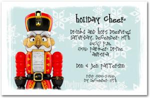 Red Nutcracker Holiday Party Invitations