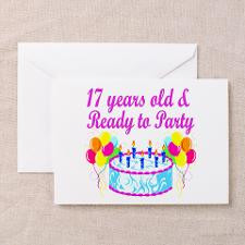 HAPPY 17TH BIRTHDAY Greeting Cards (Pk of 20) for