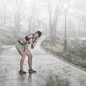 Are there benefits to running in the rain? We think so.