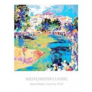 Westchester Golf by LeRoy Neiman. CANVAS WITH BRUSHSTROKES with 1 1/2 ...