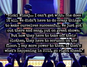 Poor Dat: Darlene Love slams Rapper/Clown Nicki Minaj.....