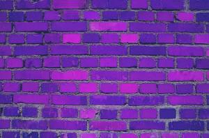 purple brick wall Image