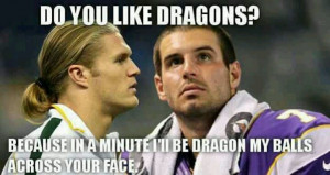 Clay Matthews to Christian Ponder, never gets old
