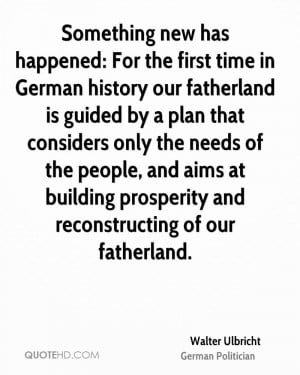 Walter Ulbricht Quotes