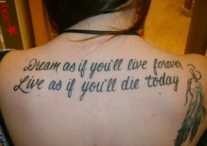 Tatouage phrase : quelle citation est faite pour vous ? *inspirations*