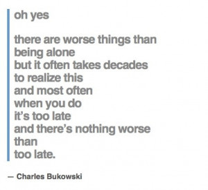 alone c bukowski # quote # word better believe bukowski or invent the ...