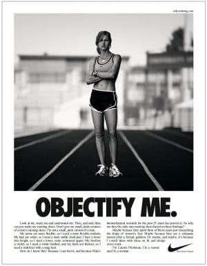 THE SEMIOTICS OF NIKE'S 'OBJECTIFY ME' AD:I chose this ad ...