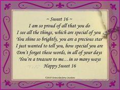 sweet sixteen birthday quotes google search more 16 birthday birthday ...