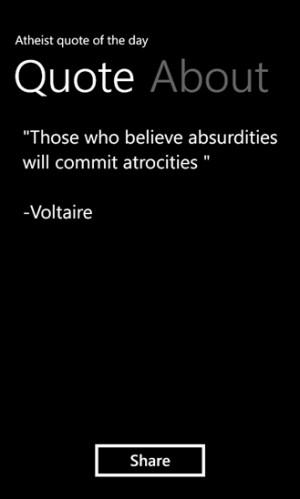 AtheistQuotes screenshot