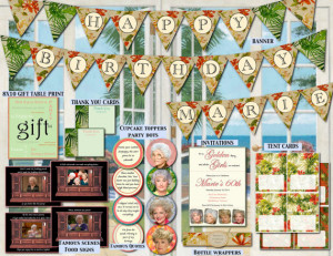 Golden Girls Birthday Retirement Party decorations funny 60th, 65th ...