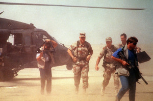 SFC Earl Fillmore again in the foreground with suppressed Carbine.