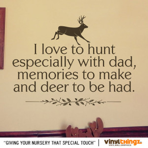 Hunting Deer Baby Childrens Room To go to sleep - I Love to Hunt ...