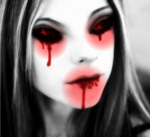 Vampirized Avril Crying Blood Tears Image