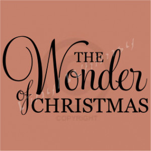 ... Quote - The Wonder Of Christmas - Vinyl Lettering - Decal - VRDHD040