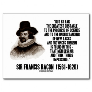 Sir Francis Bacon Obstacle Progress Of Science Postcard