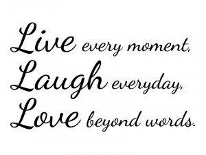 Live Laugh Love - Wall Vinyl Decal Sticker Home Bedroom Decor