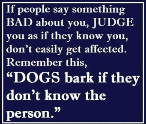 Quotes of the Day : If people say something Bad about you Judge you