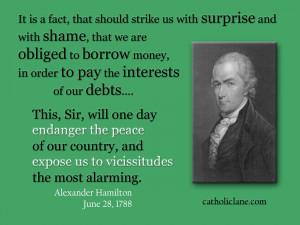 Alexander Hamilton Quotes On National Bank Alexander hamilton quote