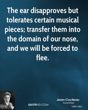 The ear disapproves but tolerates certain musical pieces; transfer ...