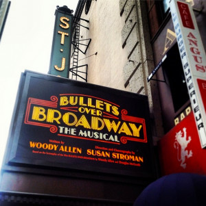 Bullets Over Broadway Musical Marquee At St James Theatre